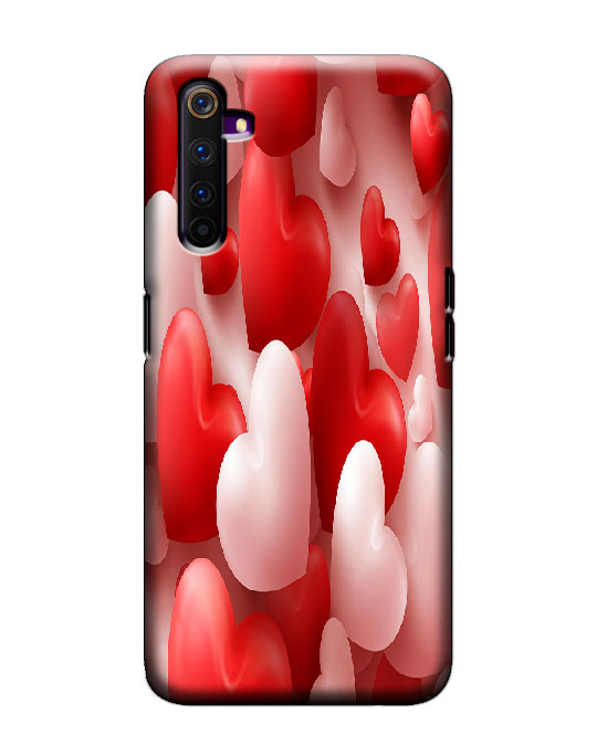realme 6 pro cover (Red White)