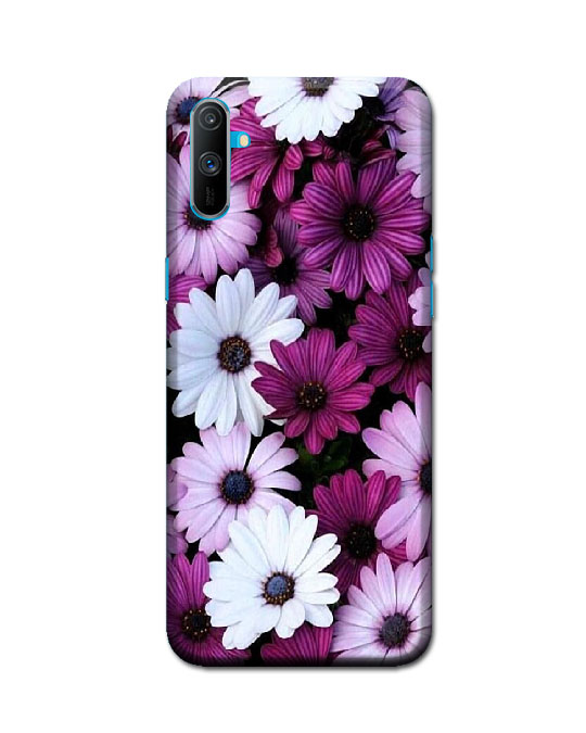realme c3 ka cover (purpel flower)