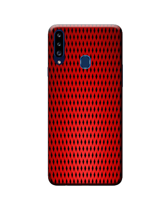 A20s samsung back cover (red net)