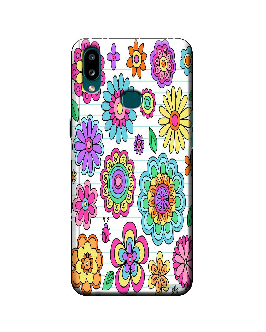 samsung A10s phone cover (flower pattern)