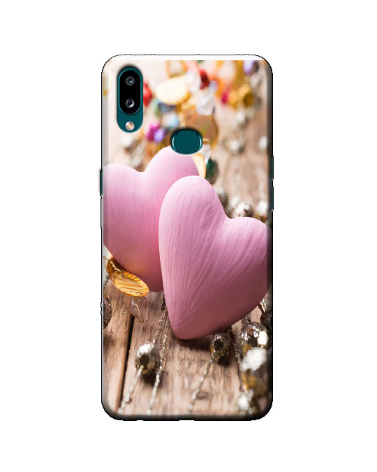 samsung A10s phone cover (pink heart)