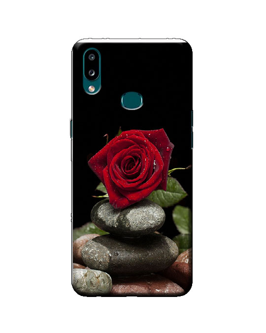 samsung A10s phone cover (Red Rose)