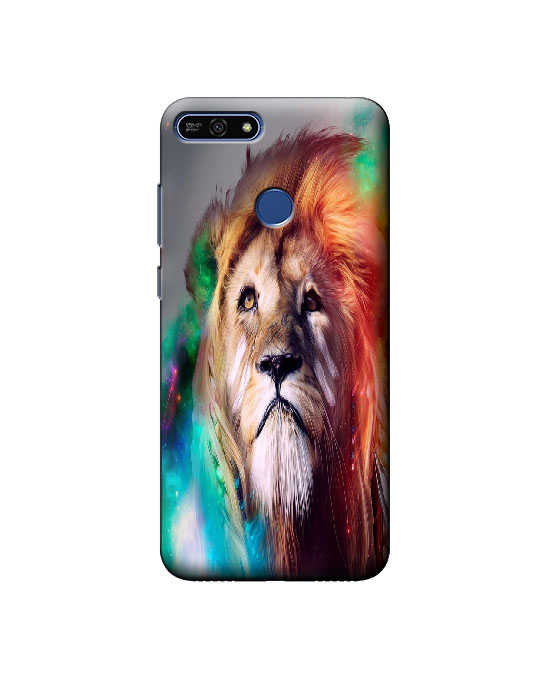 Honor 7A mobile back cover (lion)