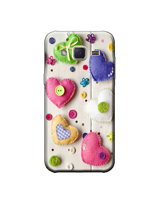 samsung j2 ka cover (Love hearts)