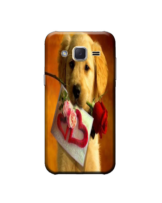 samsung j2 ka cover (dog)
