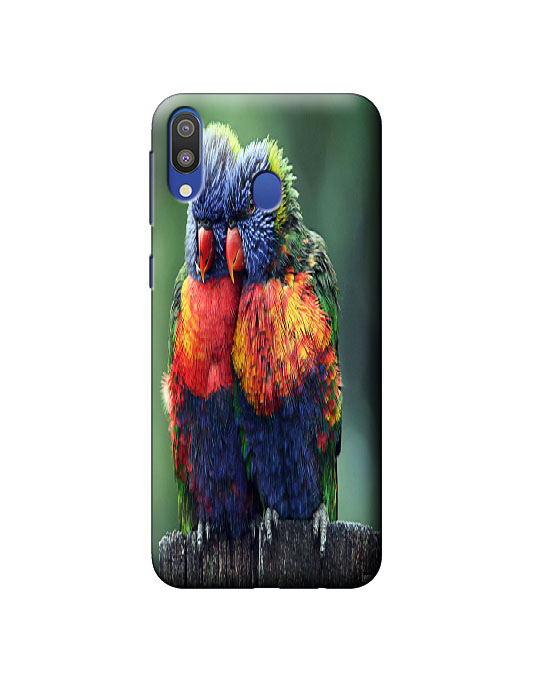 samsung M20 Mobile back cover (parrot)