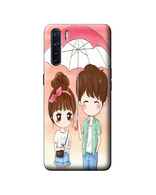 oppo F15 mobile back cover (love couple)
