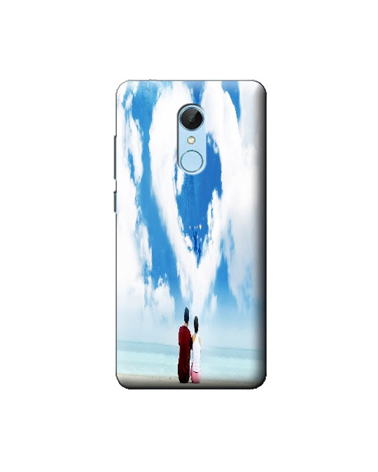 Redmi 5 Mobile Back cover (cloud heart)