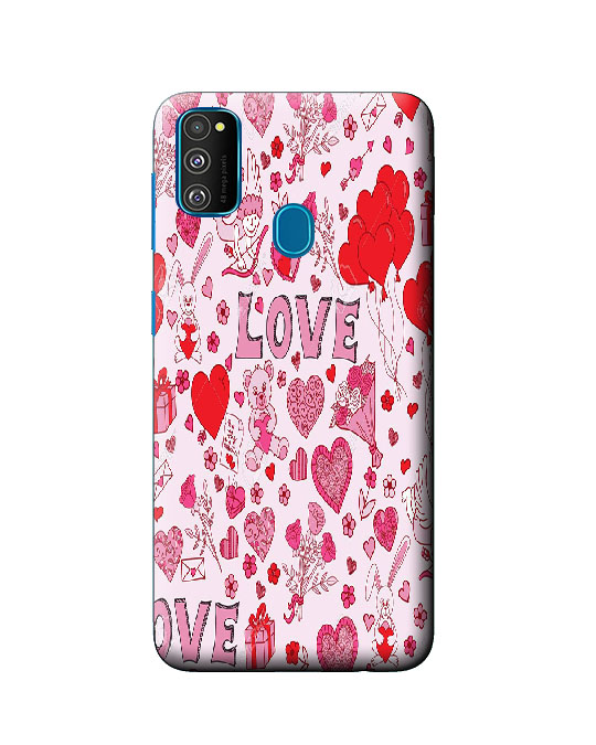 galaxy m30s back cover (love)