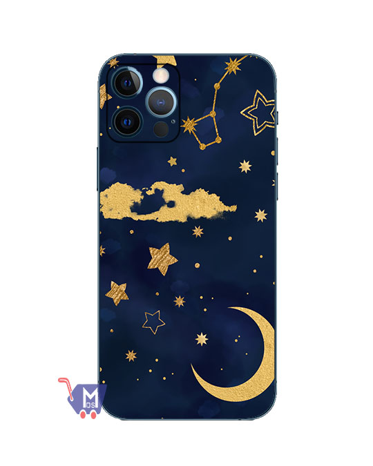 Moon Star sky cool print Mobile Back skin (Wrap)