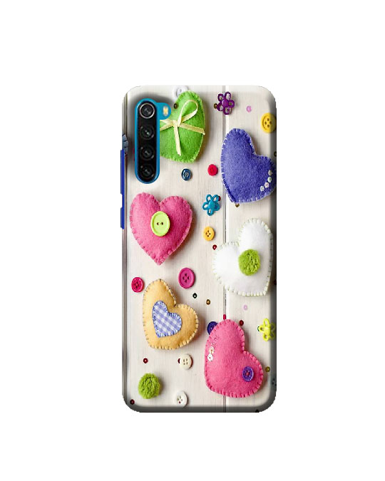 Xiaomi Redmi Note 8 mobile Back cover (colourful Hearts)
