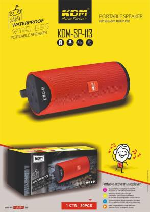 KDM Bluetooth sp-113 wireless portable speaker