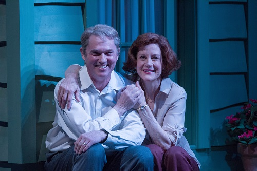 Richard Thomas as Jimmy Carter and Hallie Foote as Rosalynn Carter in Camp David at Arena Stage, 2014. The West Coast premiere of the Arena Stage production of Lawrence Wright's Camp David, directed by Molly Smith, runs May 13 – June 19, 2016 at The Old Globe. Photo by Teresa Wood.