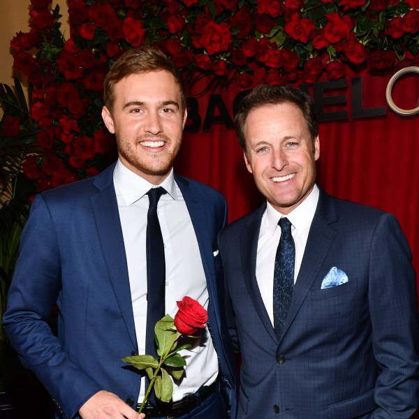 Peter Weber and Chris Harrison
