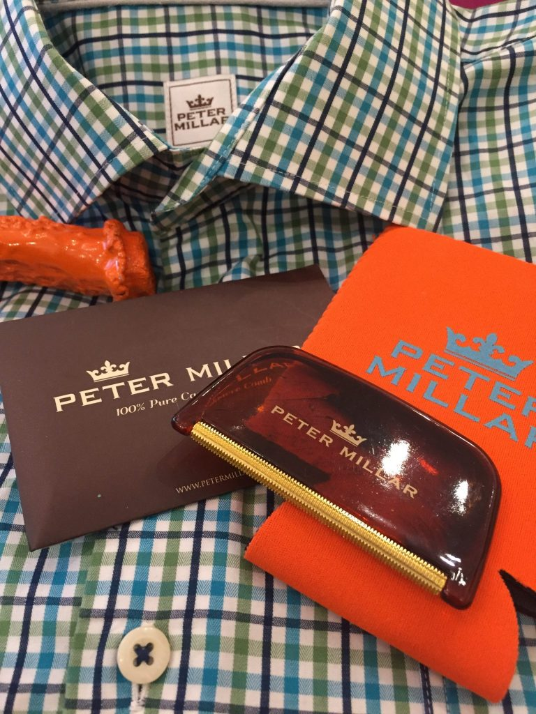 We love the Peter Millar freebies that come with every order!
