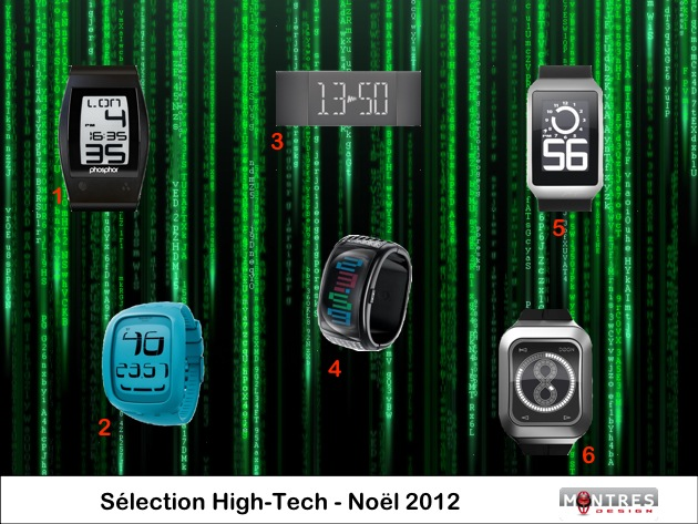 Selection guide achat montres geek high tech noel 2012