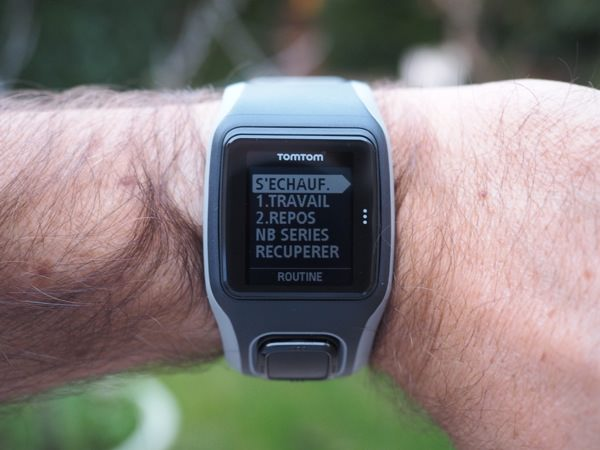 TomTom GPS Runner fractionne