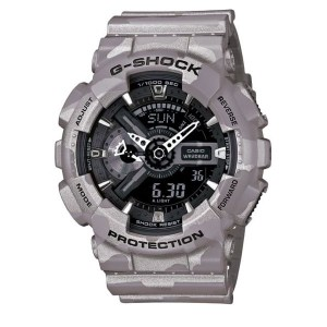 montre casio g shock grise ga 110cm 8aer casio g shock