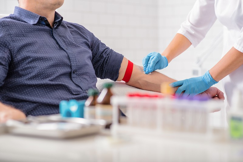 patient having blood taken