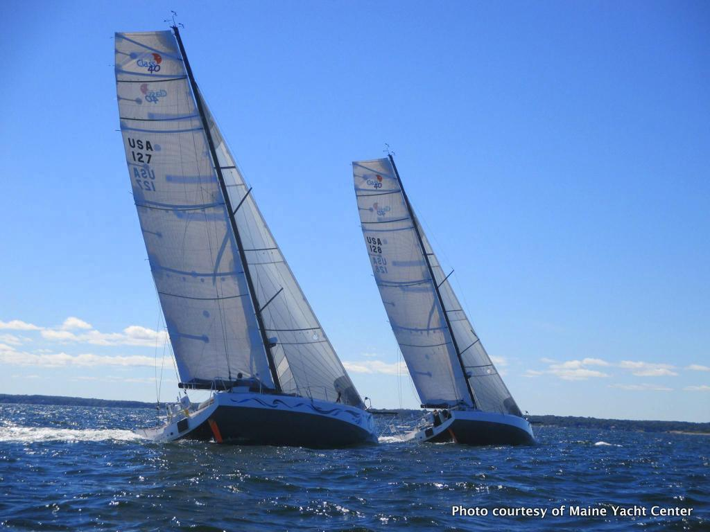 Class 40 Racing Yachts On Casco Bay Maine