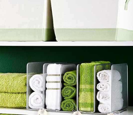 Οργάνωσε τις πετσέτες του μπάνιου