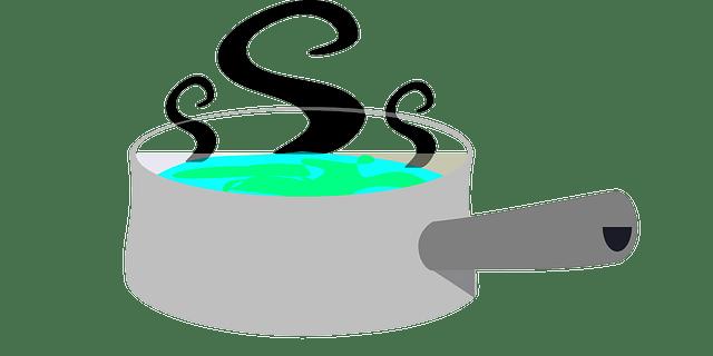 Για να μη χυθεί το νερό που βράζει στην κατσαρόλα.