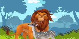 Το ελάφι και το λυσσασμένο λιοντάρι