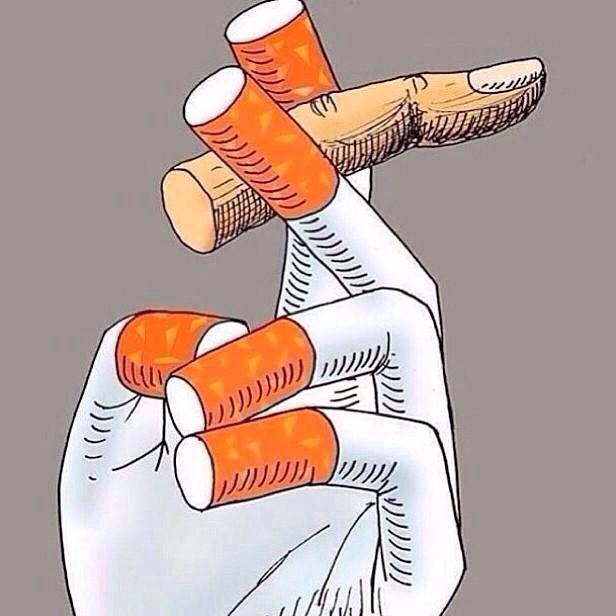 Τα κίτρινα δάχτυλα του καπνιστή