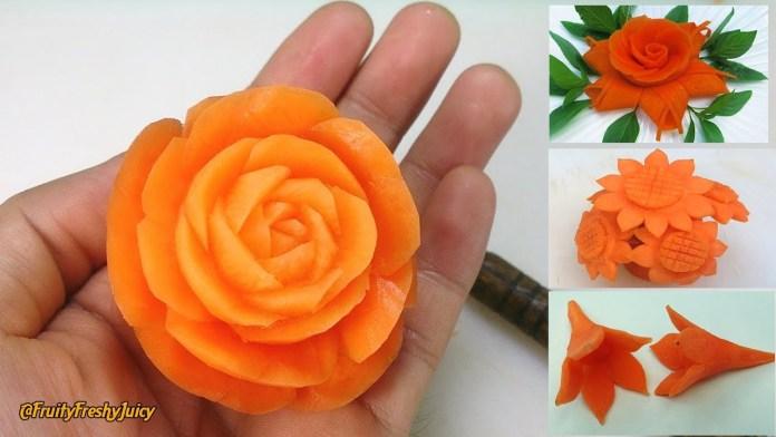 Γαρνιτούρες – Λουλούδια από καρότο