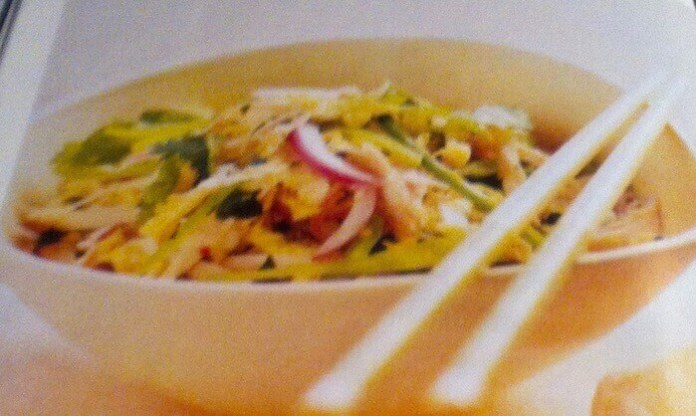 Βιετναμέζικη σαλάτα με κοτόπουλο