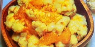 Σαλάτα με κουνουπίδι και πορτοκάλια