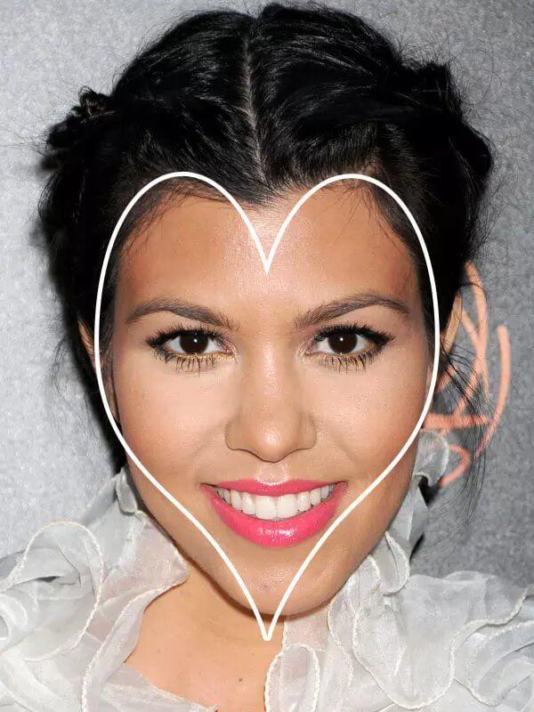 Αφέλειες που ταιριάζουν σε πρόσωπο με σχήμα καρδιάς