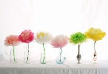 Φτιάξτε όμορφα λουλούδια για το βάζο