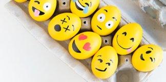 Φατσούλες emoji στα πασχαλινά αβγά