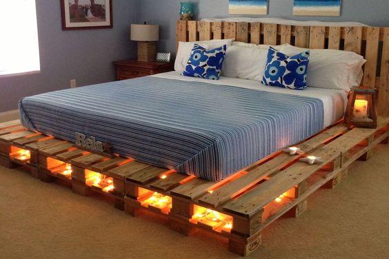 5 κρεβάτια φτιαγμένα με παλέτες