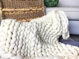 Πλέξτε κουβέρτα χωρίς βελόνες
