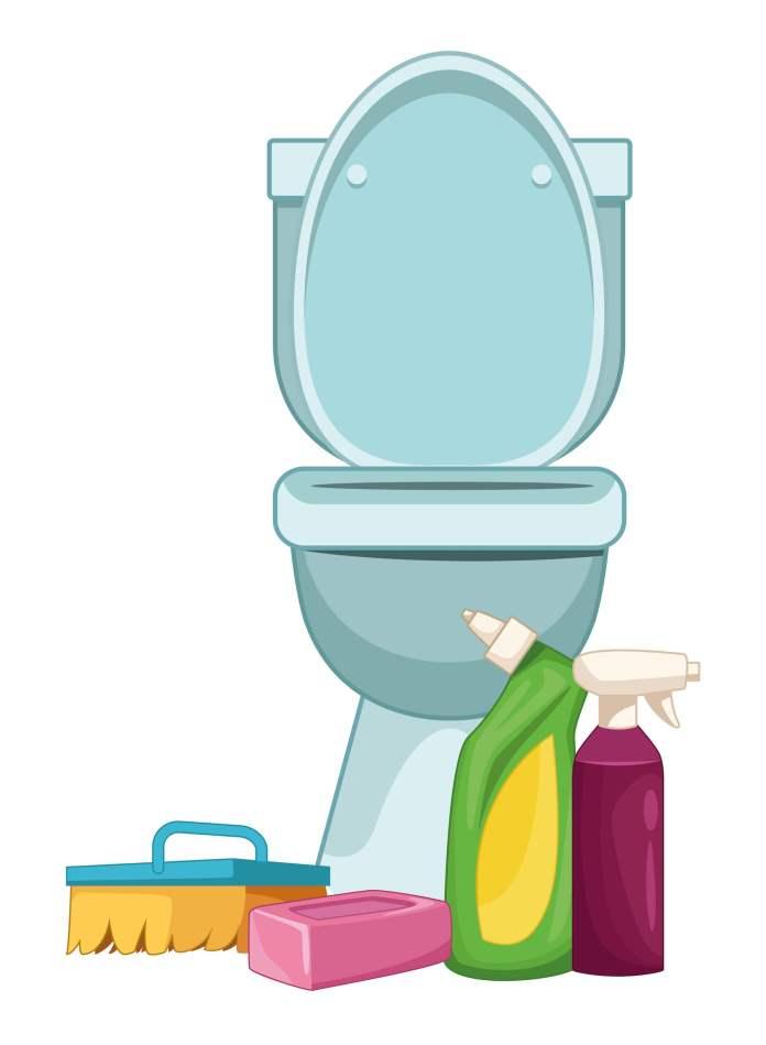 Καθαρισμός + απολύμανση λεκάνης WC χωρίς κόπο