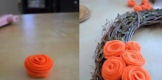 Φτιάξτε ψεύτικα λουλούδια για το στεφάνι