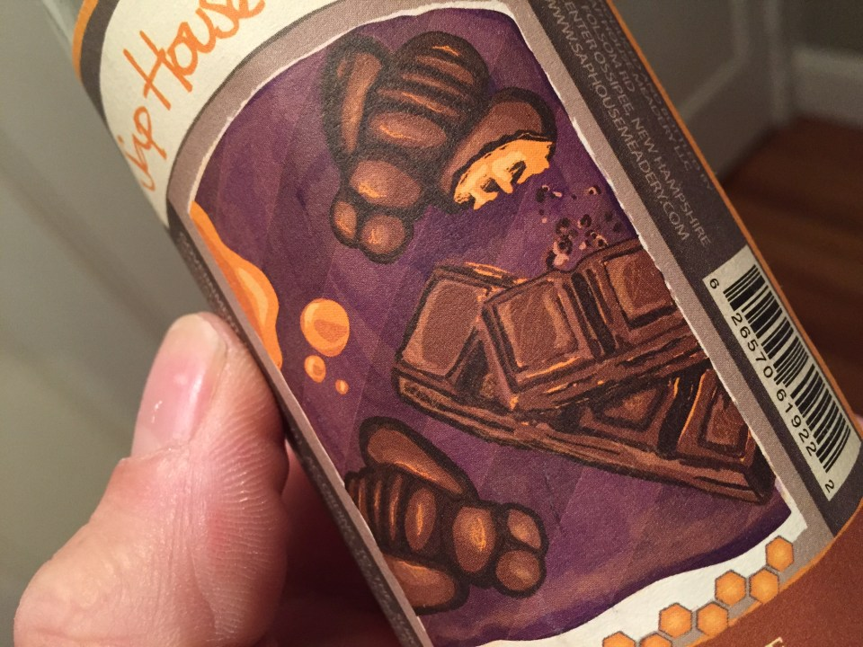 chocolate mead label