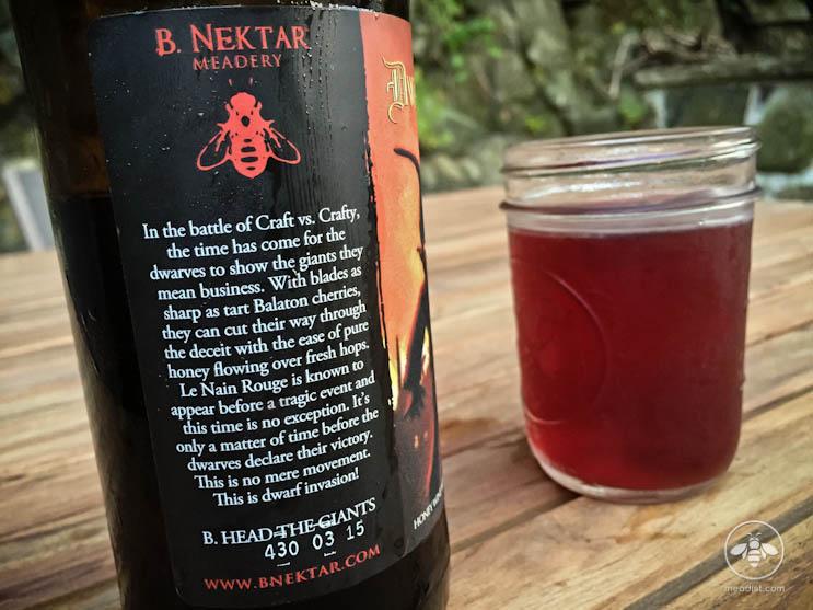B Nektar Dwarf Invasion Bottle Description