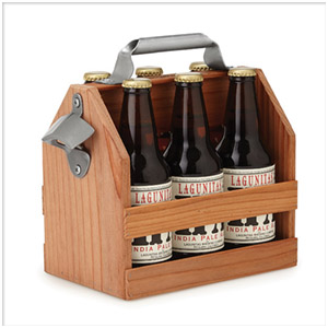 wooden six pack holder