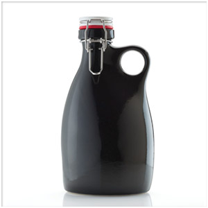 Orange Vessel ceramic growler