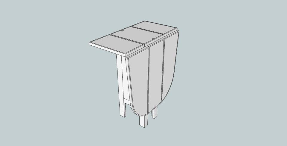 Sittbrunnsbord nedfällt steg 1