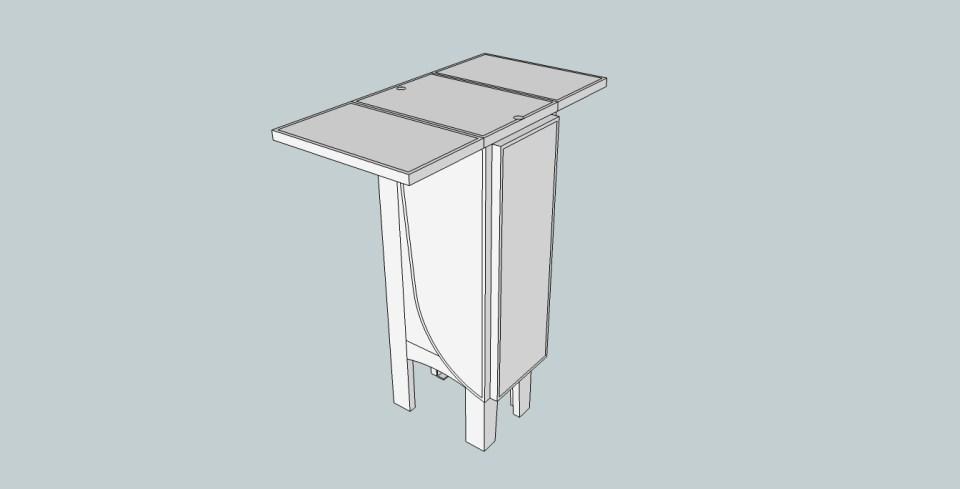 Sittbrunnsbord nedfällt steg 2