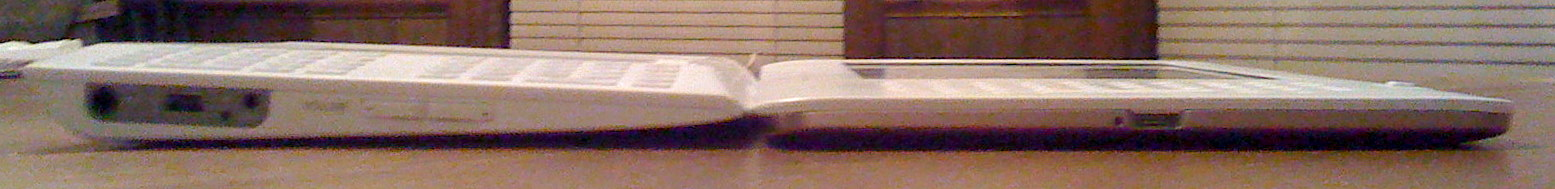 Thickness of Kindle 1 and 2