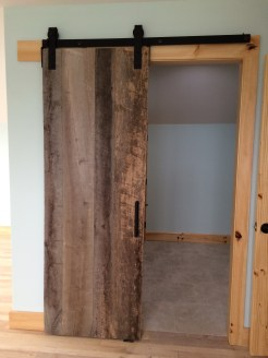 Barn door and glimpse of the paint color