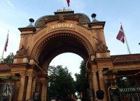 Tivoli in Copenhagen, gate at daytime