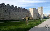 sounthern part of the Visby city wall