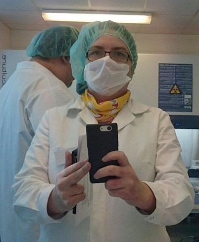 me, in my lab clothes