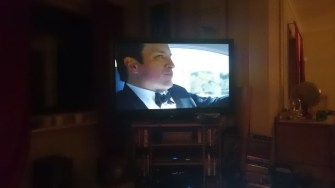 watching Castle on TV